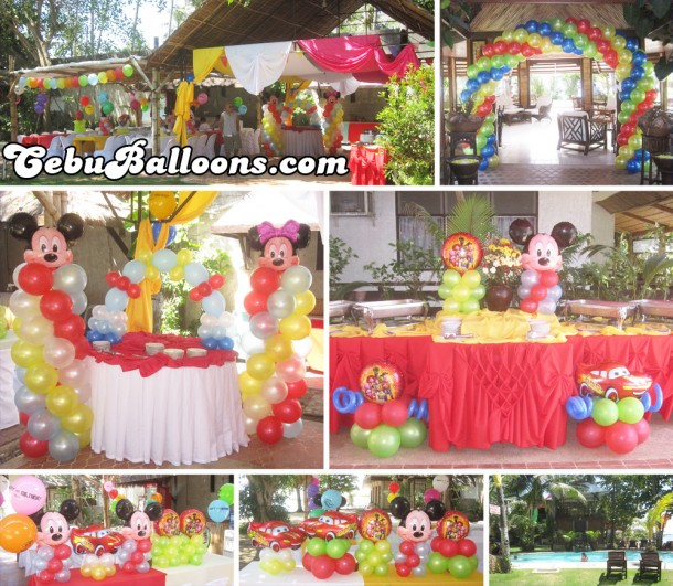 Multiple Theme Balloon Arrangement at Cebu Marine Resort