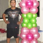 6ft Balloon Column - Floral Pink