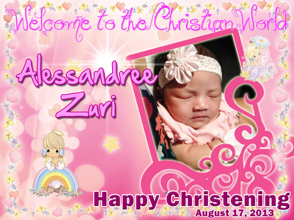 Alessandree Zuri's Christening Tarpaulin Design | Cebu ...