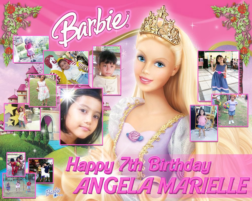 Birthday Tarpaulin Layout