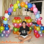 Balloon Arch and Stage Decoration (Candyland Theme)