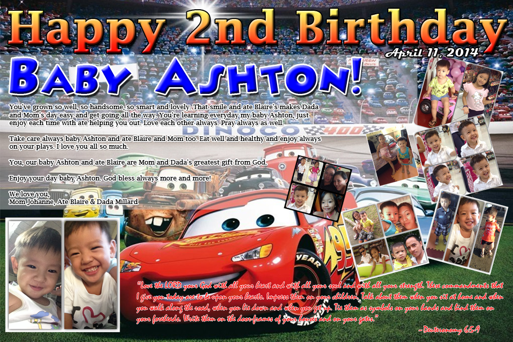 Baby Ashtons 2nd Birthday Cars Theme