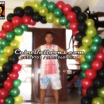 Balloon Arch (Rasta Theme)
