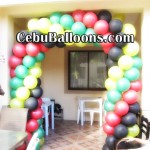 Balloon Arch for House Blessing