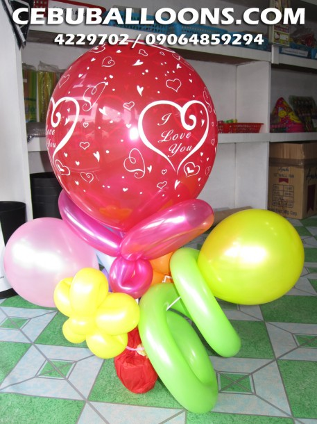 Balloon Bouquet for Valentines