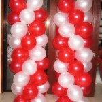 Balloon Columns (Red & White)