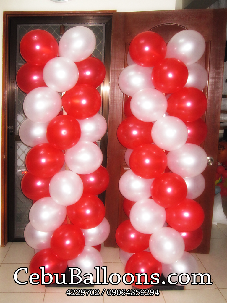 Balloon Columns Red amp White Cebu Balloons And Party