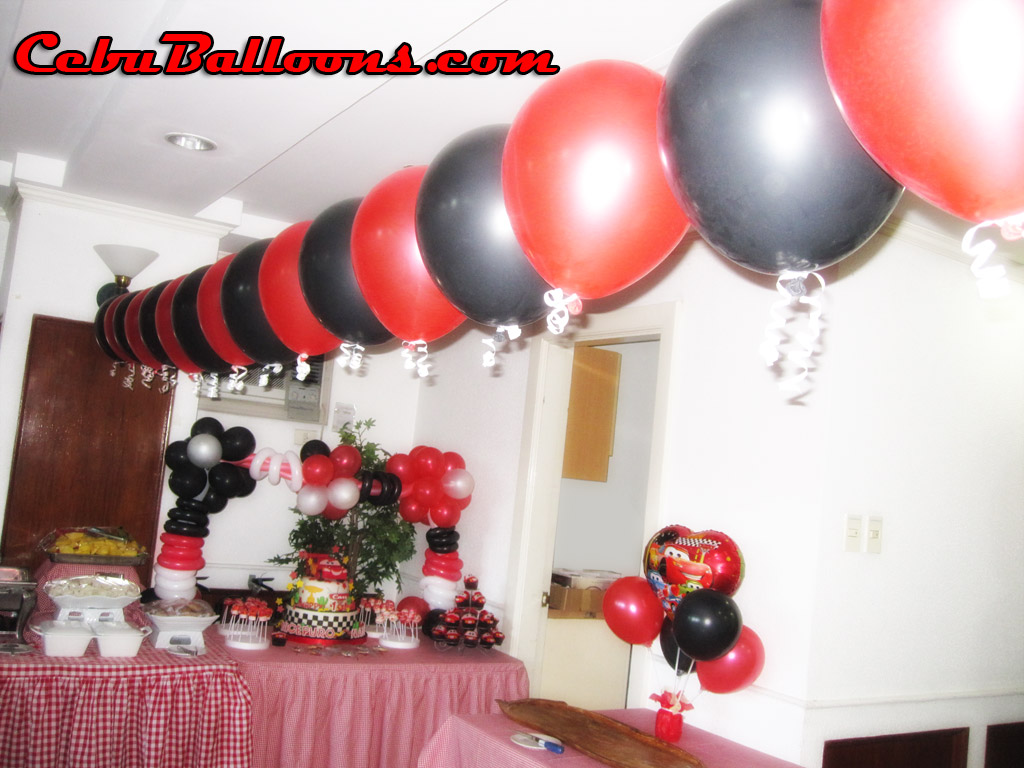 Decoration set up minnie mouse cebu balloons and party for Balloon decoration cars theme