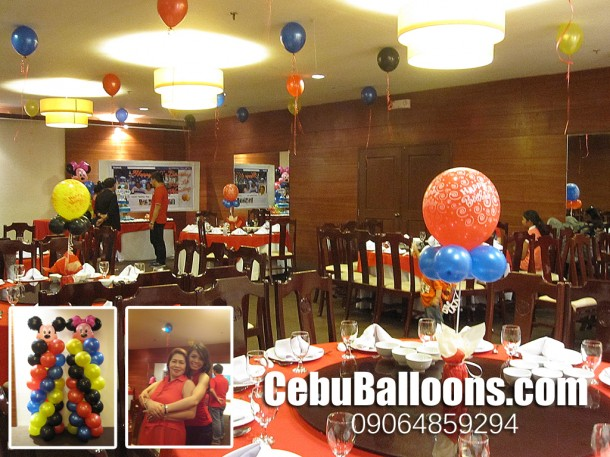 Balloon Decoration (Mickey Theme) at Grand Majestic for Raki Vega