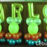 Balloon Decorations with Letters