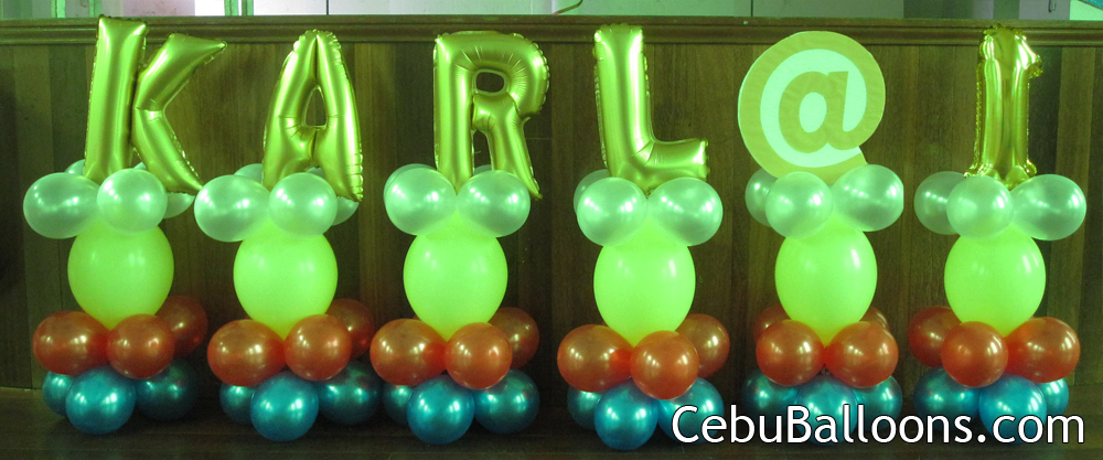 Balloon Decorations With Letters Cebu Balloons And Party