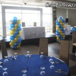 Balloon Pillars (Gold & Light Blue) at Penthouse Robinland