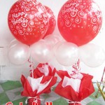 Birthday Balloon Centerpiece (Red & White)