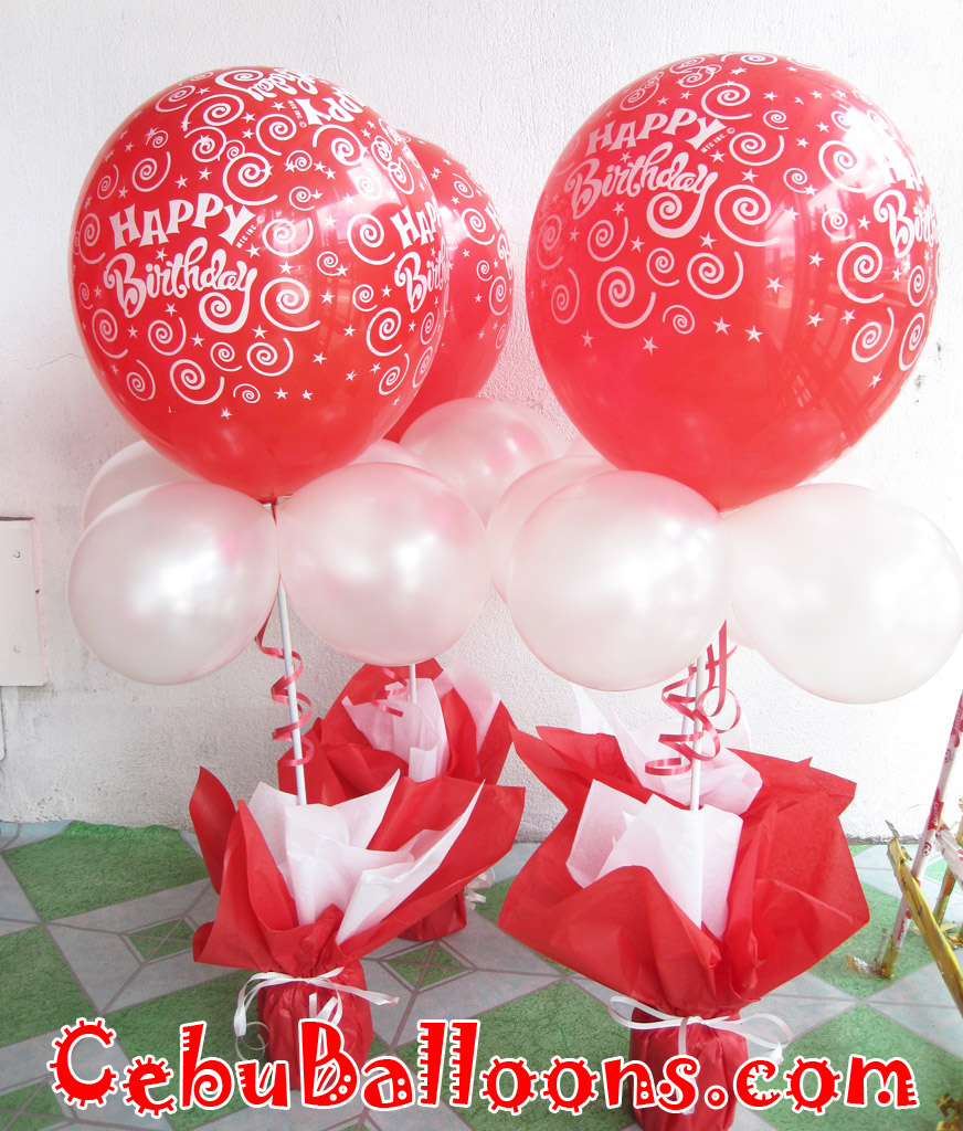 Balloon design at white gold house hello kitty cebu for Birthday balloon centerpiece ideas