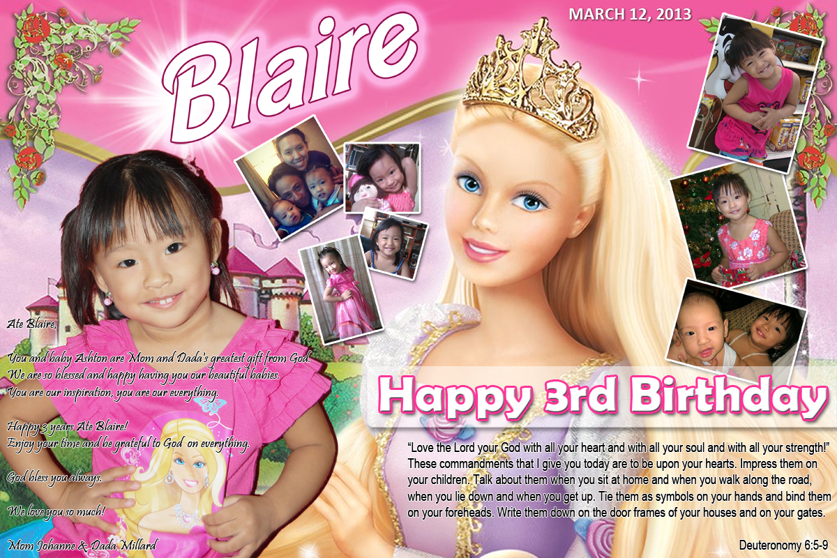 blaire barbie theme this image is posted in tarpaulin design