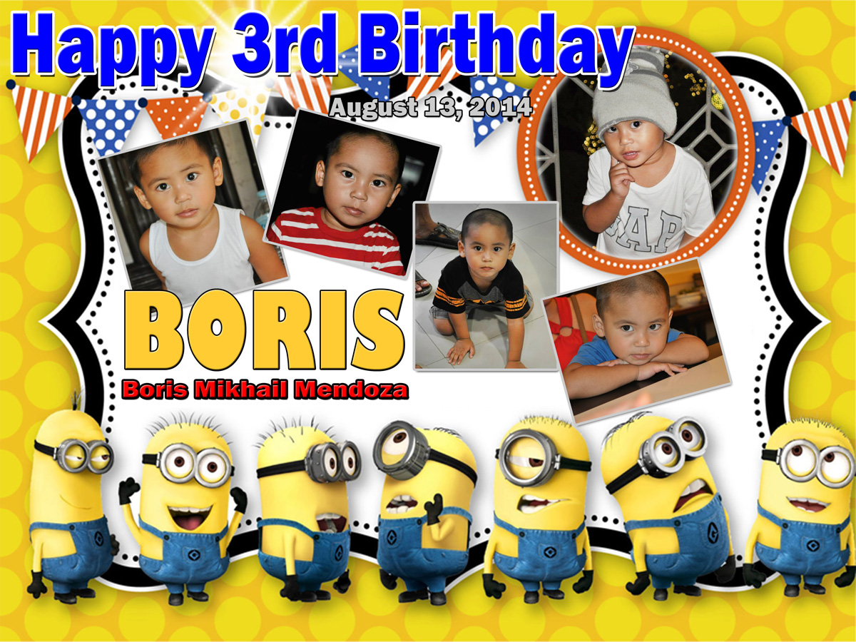 Boris 3rd Birthday Minion Cebu Balloons And Party Supplies
