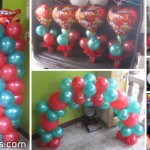 Cars Balloon Decoration (Red & Green) Balloon Decoration & Party Package at Casili