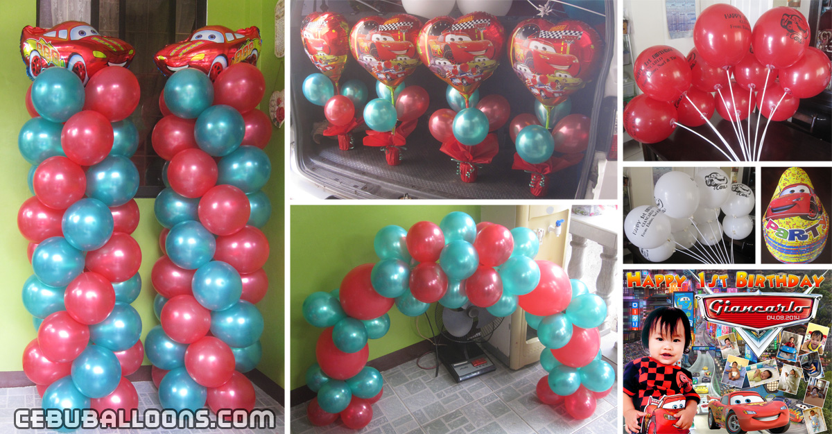Balloon designs cebu balloons and party supplies for Balloon decoration cars theme