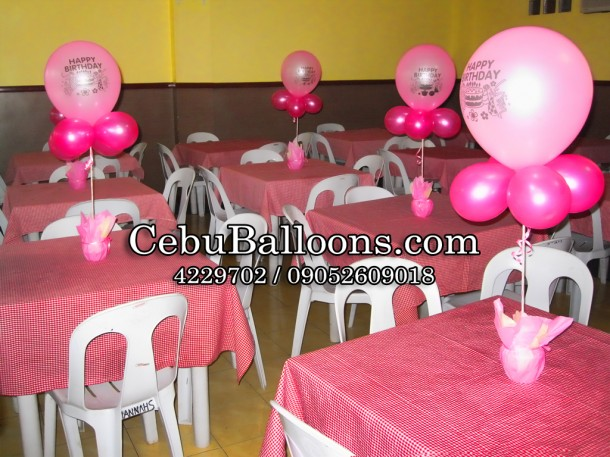 Standard Balloon Centerpiece (Pink)