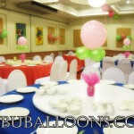 Christening Balloon Centerpieces