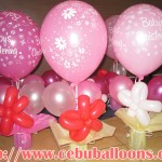 Christening Centerpieces (Pink Flower)