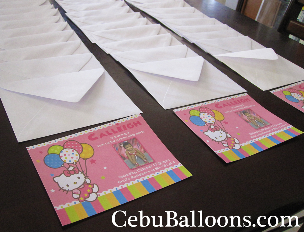 Giveaways souvenirs party favors cebu balloons and party supplies customized invitations with envelope stopboris Gallery