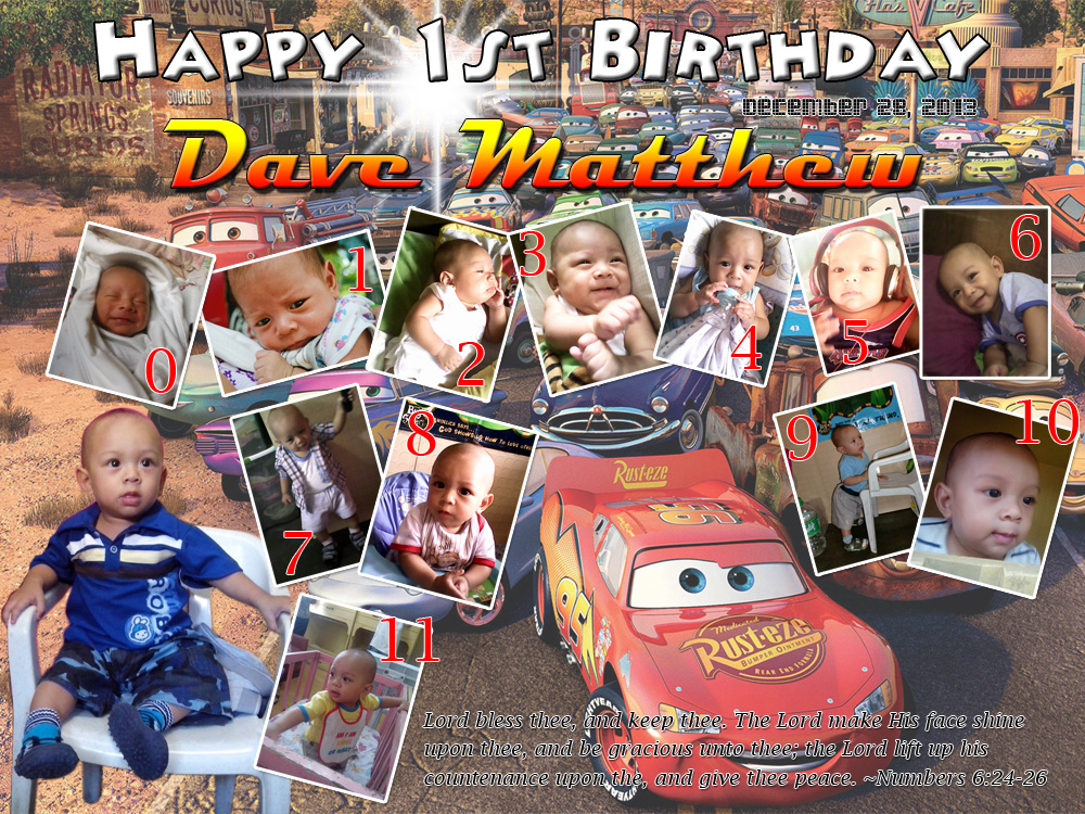 Dave Matthew S 1st Birthday Cars Theme Cebu Balloons And Party