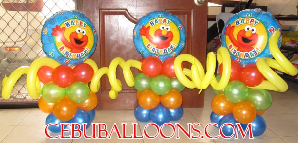 Stage Decoration (Elmo Balloons)