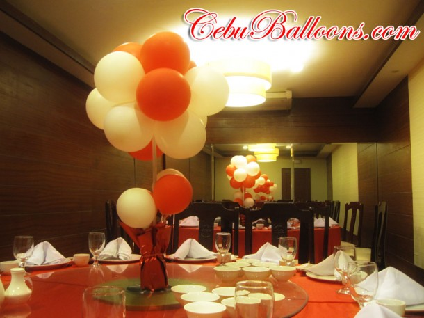 Floral Balloon Decoration Table Centerpiece