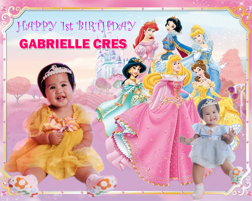 Gabrielle Cres 1st Birthday (Disney Princess) | Cebu Balloons and Party Supplies