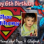 Glee Anthony's 6th Birthday (Superman Theme)