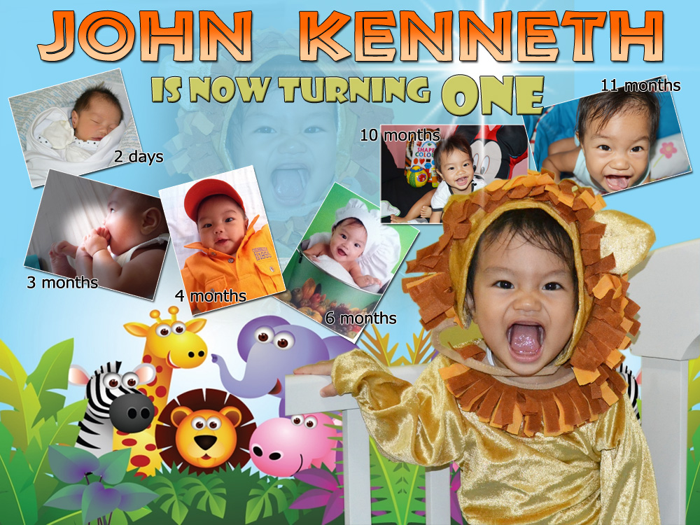 John Kenneth Is Turning 1 Safari Theme Layout