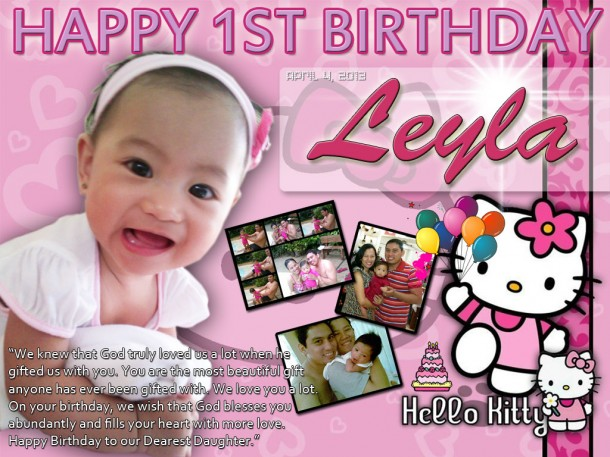 Leyla's 1st Birthday (Hello Kitty Design)