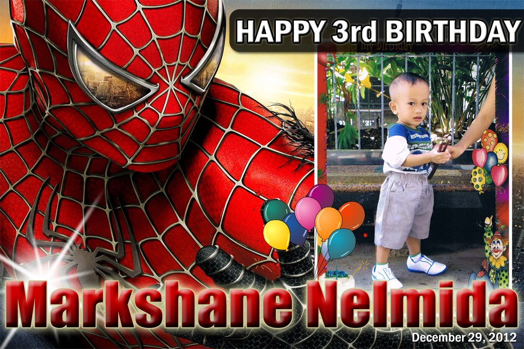 Markshane S 3rd Birthday Spiderman Cebu Balloons And Party