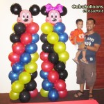 Mickey & Minnie Mouse Columns