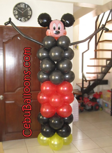 Mickey Mouse Balloon Column