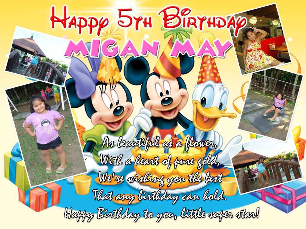 Migan May's 5th Birthday Party (Mickey & Friends)