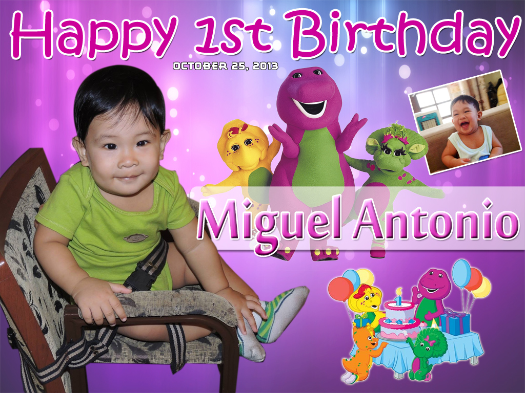 Miguels Barney Theme 1st Birthday Cebu Balloons And Party Supplies