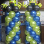 Minions Balloon Columns (One & Two Eyes)