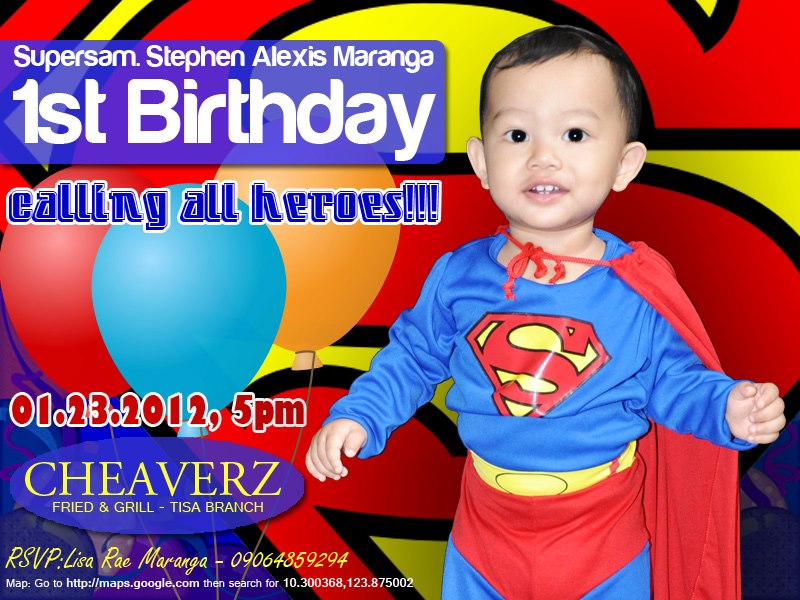 Sams Birthday Invitation Superman