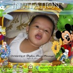 Sam's Christening Invitation (Mickey)