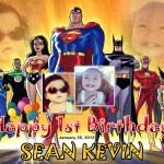 Sean Kevin 1st Birthday (Superman)