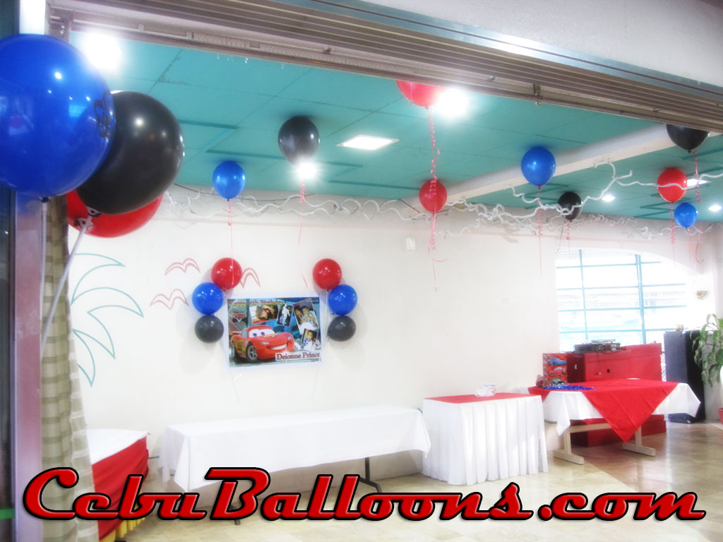 Simple balloon decoration at baseline restaurant cebu