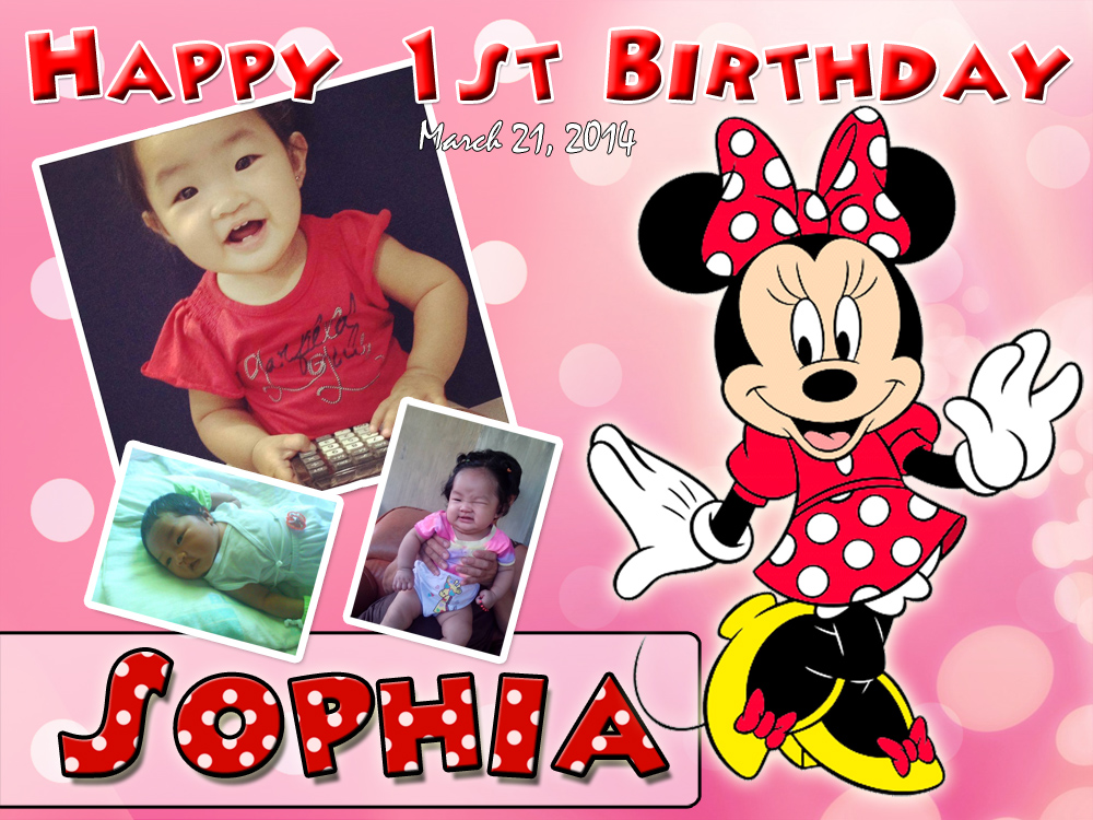 Sophia's Red Minnie Mouse 1st Birthday