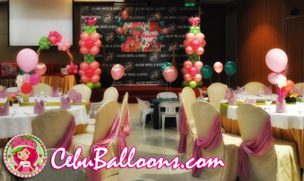 Strawberry Shortcake Setup at Allure Hotel