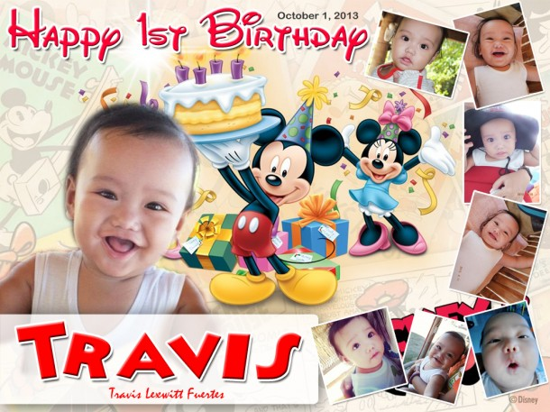 Travis' Mickey Mouse Theme Birthday Tarpaulin
