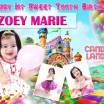 Zoey Marie's Candyland Theme Tarp