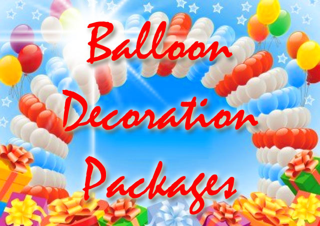 Balloon decoration packages cebu balloons and party supplies for Balloon decoration packages manila