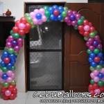 Floral Arch using Small Balloons