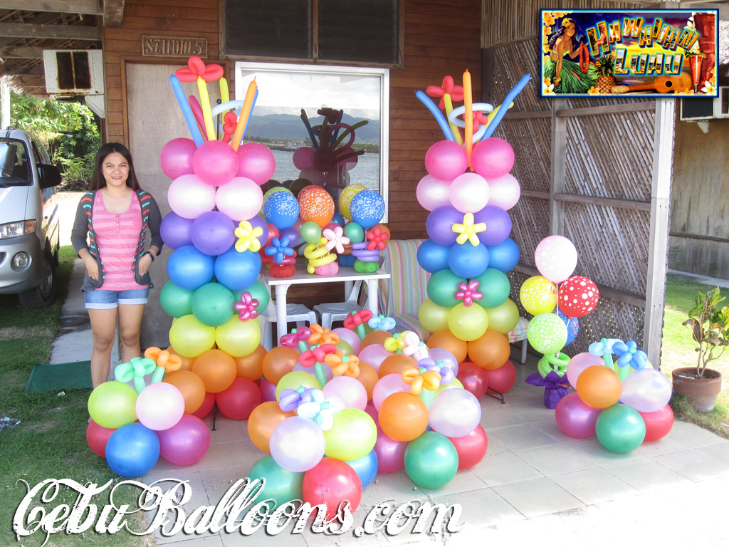Hawaiian luau cebu balloons and party supplies for Balloon decoration for kids birthday party